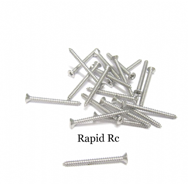 Stainless steel A2 Counter Sunk  Phillips Head Self Tapping screw 2.2mm x 25mm